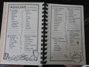 Sample garden journal